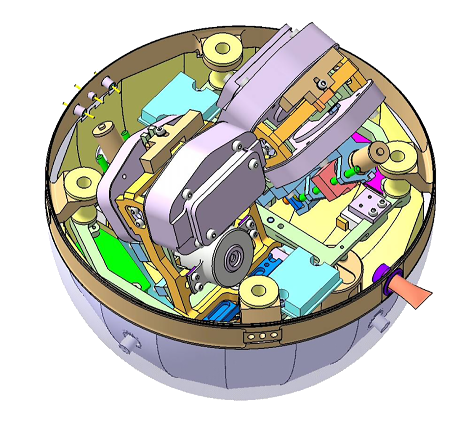 NETLANDER-Sphere-with-2-Very-Broadband-Seismometers